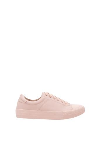 SEMBONIA pink Women Synthetic Leather Sneaker 9832ESH9E6EC37GS_1