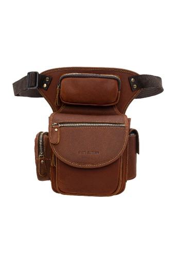 Jack Studio brown Jack Studio Genuine Leather Sling Bag Chestbag Crossbody Bag 8F6AAAC6C8448CGS_1