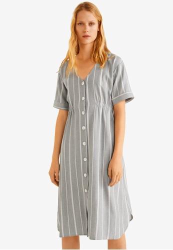 MANGO navy Elastic Waist Dress 0EEE2AA403CFF3GS_1