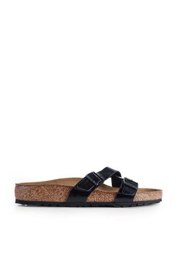 Birkenstock black Yao Patent Sandals AFDBCSH72CE1C9GS_1