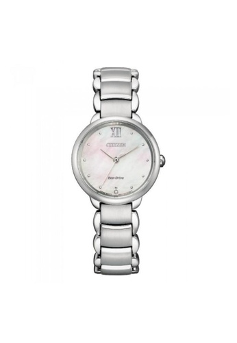 Citizen silver CITIZEN EM0920-86D ECO-DRIVE WHITE MOTHER OF PEARL STAINLESS STEEL WOMEN'S WATCH D0F50AC6D6491DGS_1