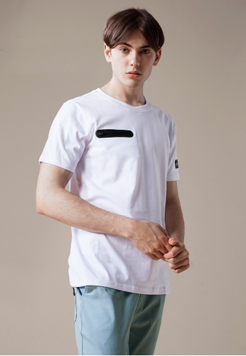 Life8 white Casual Comfy Crew Neck Tee With Zip Detail-03897-White LI286AA0RN34MY_1