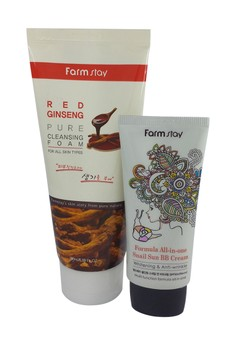 Red Ginseng Cleanser Set + Snail BB Cream (Young & fresh finish)