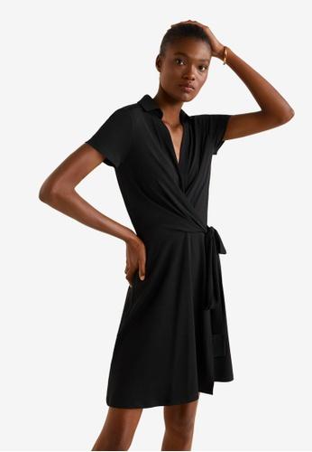 Mango black Bow Wrap Dress 9F3B5AA7502253GS_1
