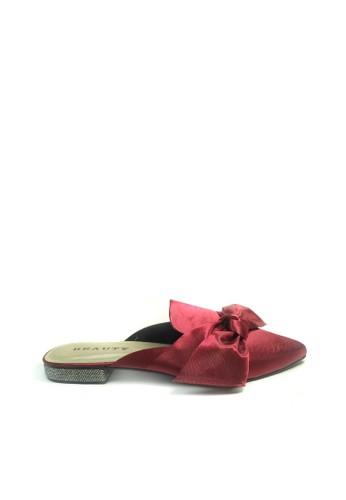 Beauty Shoes red Beauty Shoes 1406 Flat Maroon C2A82SHF5ECDF3GS_1