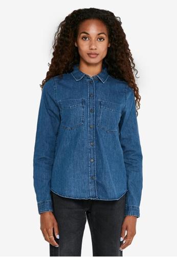 Noisy May blue Damla Long Sleeved Denim Shirt CD8A7AA5DC0DBDGS_1