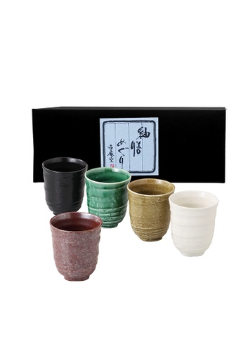 Tsuru TSURU 90-51-43 5pc Japanese Tea Cup Set 3CBC1HL1E721B1GS_1