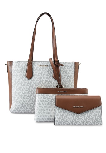 MICHAEL KORS white LG 3 in 1 Tote (nt) 0006BACC88A81CGS_1