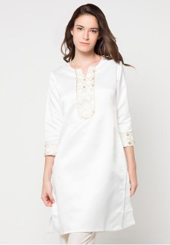 Chanira Festive Collection white Roha Velvette Tunic CH354AA66BIJID_1