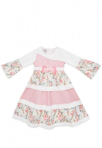 FIYORA pink Kamisha Cotton Girl Dress Moslem Hijab set 1A0B7KAB19C51DGS_1