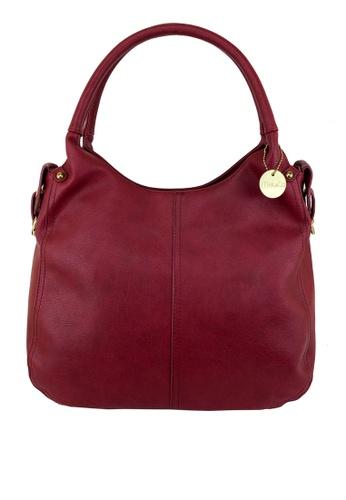 Mel&Co red Faux Leather Double Handle Bag D3D1EACCA5C3B7GS_1