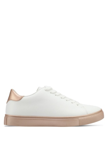 ZALORA white Double Pu Detail Sneakers 5CBD3SHD48A0B3GS_1