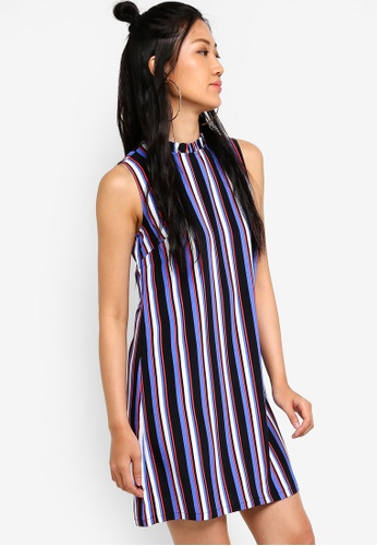 Something Borrowed black and multi Relaxed Shift Dress 44384AA7E88881GS_1