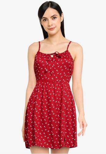 Hollister red Bare Woven Dress CD6D7AAAF27AF0GS_1