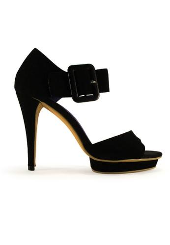 Gripz black Imogen Big Buckle Ankle heels GR357SH31SEMSG_1