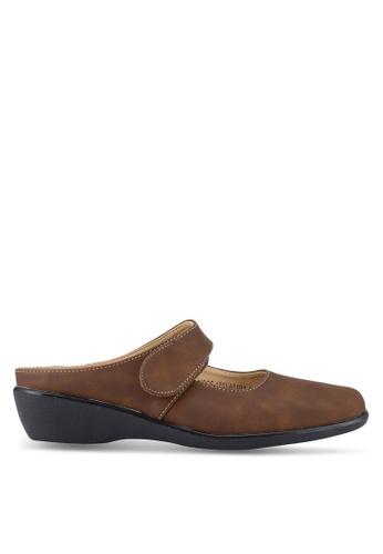 Noveni 褐色 懶人楔型鞋 NO978SH89RESMY_1