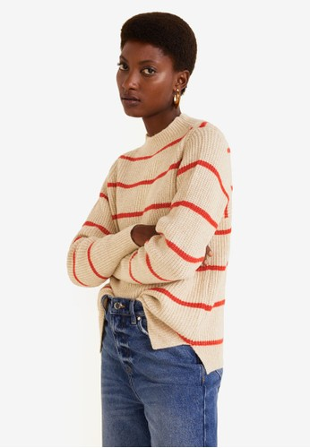 Mango multi and brown Knit Striped Sweater C28F9AA7E5DD00GS_1