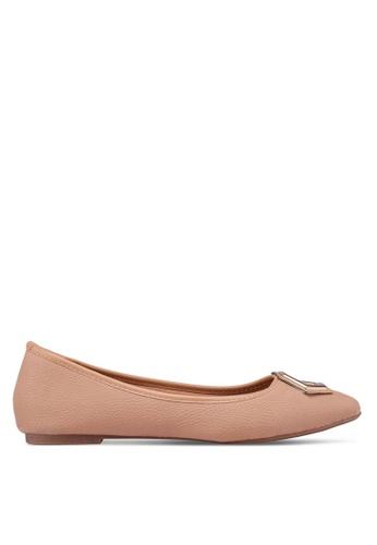Bata beige Pointed Toe Flats 572DASHC1BBA40GS_1