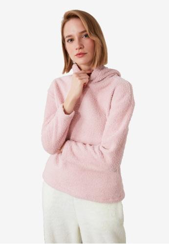 Trendyol pink Knit Sweatshirt D9F48AA013187EGS_1