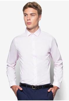 【ZALORA】 貼身長袖襯衫