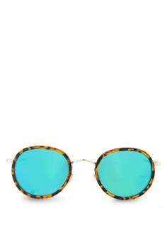 Paul 印花圓框太陽眼鏡