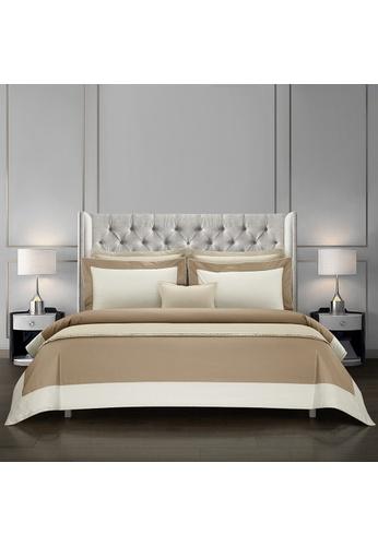 Epitex Epitex Hotel Collection HC2301-3 1200TC Sand / Ivory Bedset. 2444FHLEB1FED3GS_1