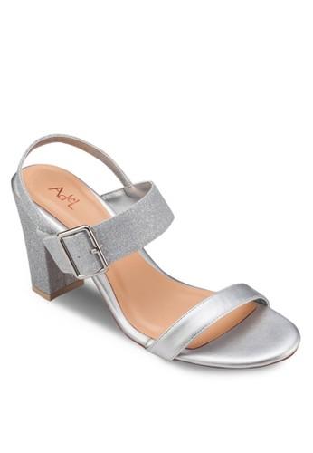 一字帶繞踝粗跟涼esprit 寢具鞋, 女鞋, 鞋