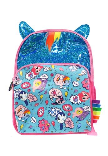 My Little Pony pink and blue My Little Pony Shinning Rainbowdash 12-inch Kids Backpack 1C61DKCDBB7AEEGS_1