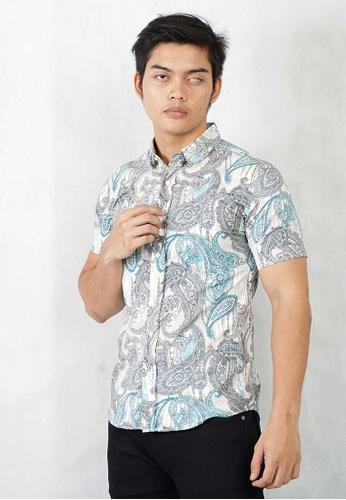 UA BOUTIQUE green Short Sleeve Shirt Batik SSB125-071 (Green) 803D4AABDA55A8GS_1