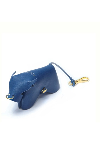 Enjoybag blue Zodiac`s Cowhide Leather Key Holder EN763AC45VSCHK_1