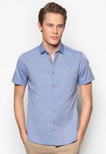 卷袖短袖修身esprit台灣襯衫, 服飾, 襯衫