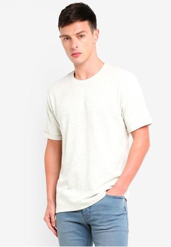2aca395ace12f Buy Topman Grey Boxy T-Shirt Online | ZALORA Malaysia