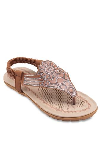 彈性繞踝閃飾esprit hk分店涼鞋, 女鞋, 鞋