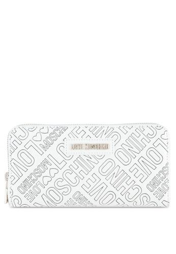 Love Moschino white Portafogli Embossed Wallet LO478AC0SELMMY_1
