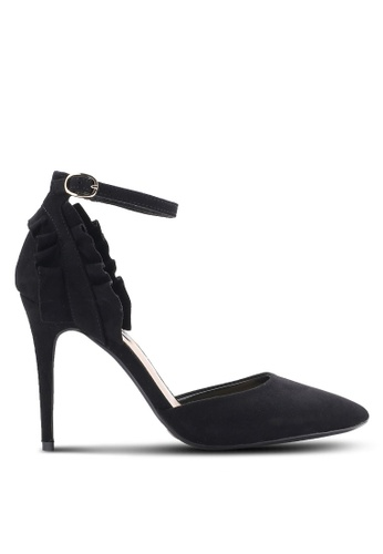 Dorothy Perkins black Black Game Ruffle Back Court Heels DO816SH41PQGMY_1