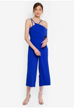 d8ff9a84730 Lavish Alice blue Multi Strap One Side Bandeau Culotte Jumpsuit  C4746AA45B855CGS 1