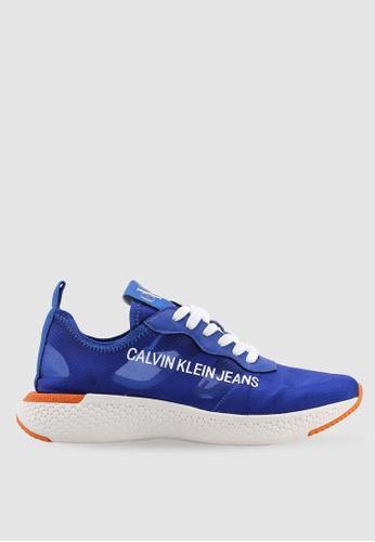 Calvin Klein 藍色 網眼運動鞋 7B730SH13A16FBGS_1
