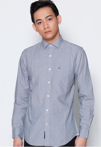 Dockers grey Dockers Long Sleeve Refined Poplin Shirt Desi - Burma Grey D3751AAAE35427GS_1