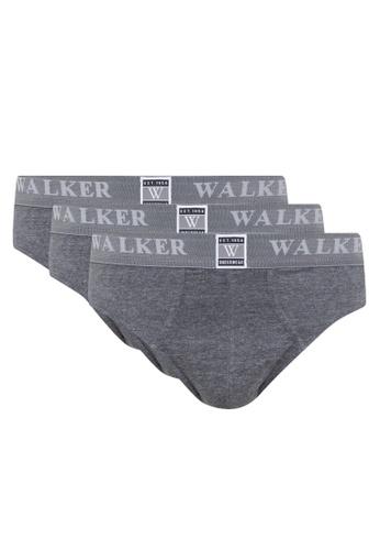Walker Underwear grey 3 In High Cut Brief D8A6CUS2026B2BGS_1