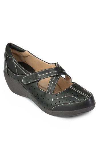 交叉帶厚底休閒鞋, 女esprit 工作鞋, 楔形鞋