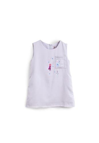 L'zzie purple FROZEN II EMBROIDERY DRESS - KIDS - PURPLE 278C9KA0FB9ABBGS_1