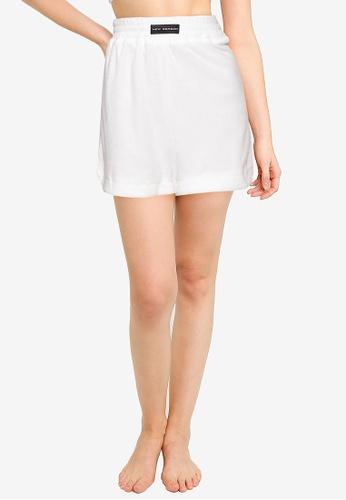 Public Desire white PJ Valour Boxer Shorts 8AEFDAA793409FGS_1