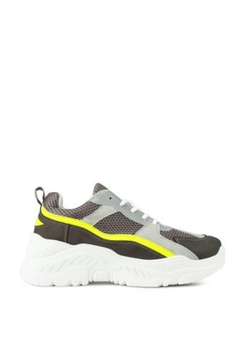 Rubi yellow and grey Blaze Chunky Sneaker A633FSH34B7787GS_1