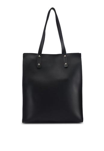 Perllini&Mel black Faux Leather Double Handle 804C9AC6186B03GS_1