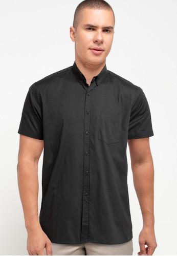 Tolliver X Salt n Pepper grey Buttoned Collar Short Sleeve Shirts 84043AAF9717C0GS_1