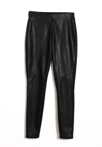 PIMKIE black Faux Leather Leggings 6D4F1AAE163B90GS_1