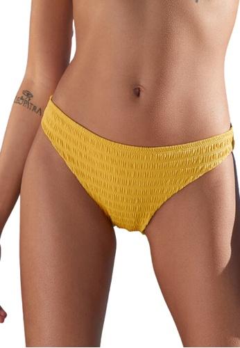 Etam yellow Lemon Smocked Bikini Bottoms 5D4C1USAE86E57GS_1