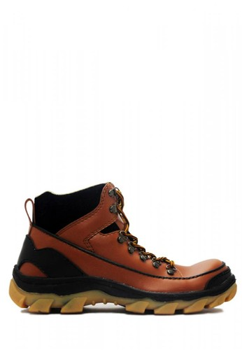 Cut Engineer brown Cut Engineer Safety Boots Iron Apple Leather Brown AD9ADSH27F2F73GS_1