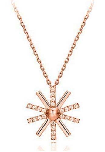 YOUNIQ gold YOUNIQ-Basic Korean CZ Sun Necklace (RoseGold) B4193AC6FB0E0FGS_1