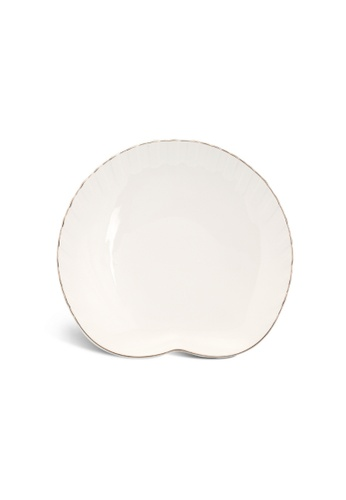 Minh Long I white Fish & Clam: Porcelain Plate (25cm) 8A1B1HL5CF0187GS_1